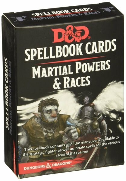 DD Spellbook Cards - Martial Powers  Races